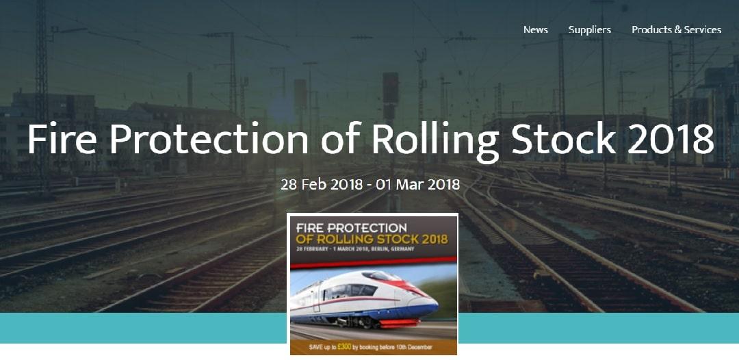 Anche nel 2018 ISE è stata Sponsor della FIRE PROTECTION OF ROLLING STOCK principale evento del settore a livello internazionale